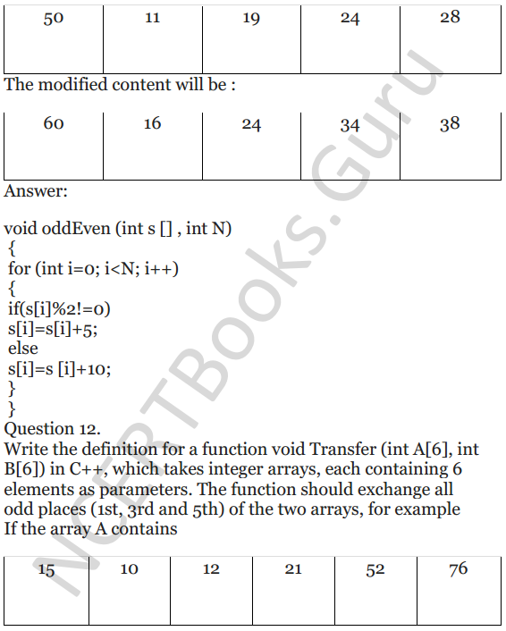 NCERT Solutions for Class 12 Computer Science (C++) Chapter - 8 – Arrays 10