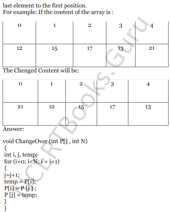NCERT Solutions for Class 12 Computer Science (C++) Chapter - 8 – Arrays 13