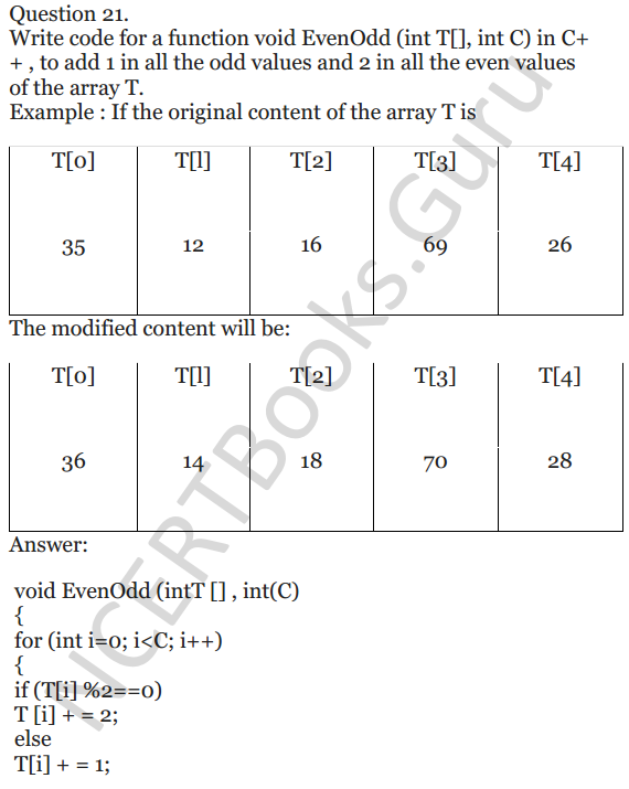 NCERT Solutions for Class 12 Computer Science (C++) Chapter - 8 – Arrays 20