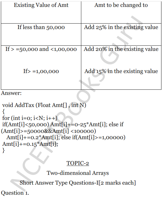 NCERT Solutions for Class 12 Computer Science (C++) Chapter - 8 – Arrays 23