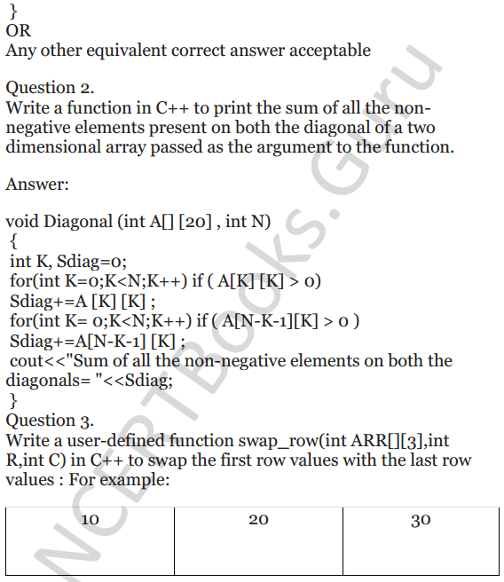 NCERT Solutions for Class 12 Computer Science (C++) Chapter - 8 – Arrays 25