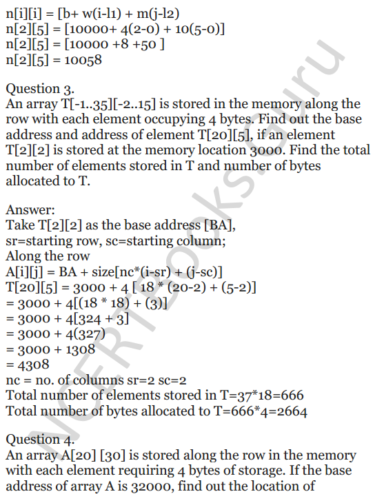 NCERT Solutions for Class 12 Computer Science (C++) Chapter - 8 – Arrays 32