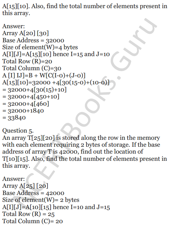 NCERT Solutions for Class 12 Computer Science (C++) Chapter - 8 – Arrays 33