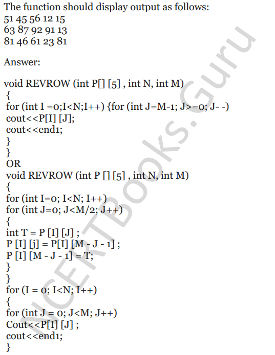 NCERT Solutions for Class 12 Computer Science (C++) Chapter - 8 – Arrays 38