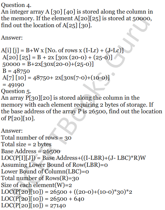 NCERT Solutions for Class 12 Computer Science (C++) Chapter - 8 – Arrays 4