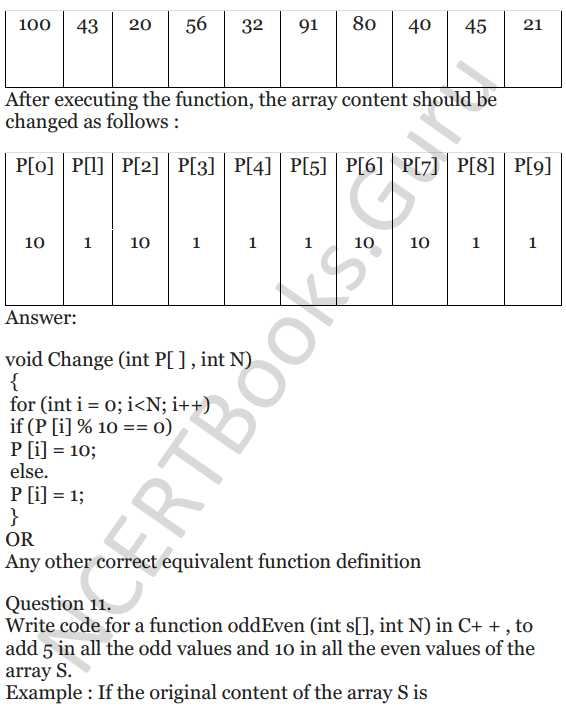NCERT Solutions for Class 12 Computer Science (C++) Chapter - 8 – Arrays 9