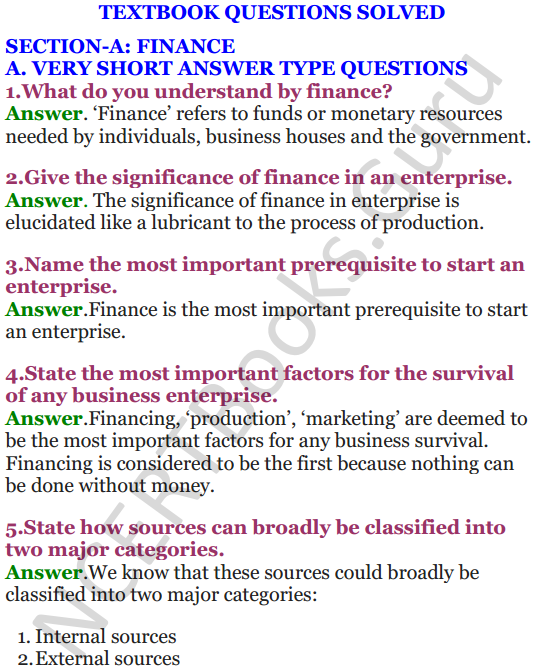 NCERT Solutions for Class 12 Entrepreneurship Chapter 6 Resource Mobilization 1