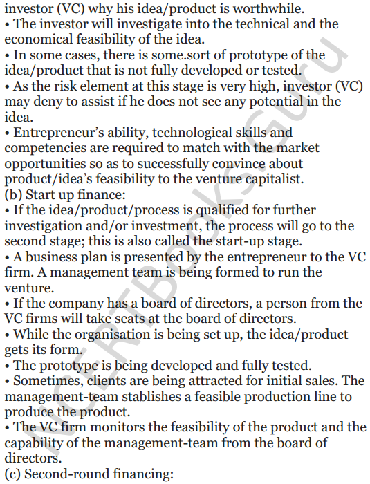 NCERT Solutions for Class 12 Entrepreneurship Chapter 6 Resource Mobilization 100