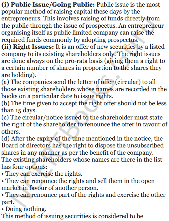 NCERT Solutions for Class 12 Entrepreneurship Chapter 6 Resource Mobilization 103