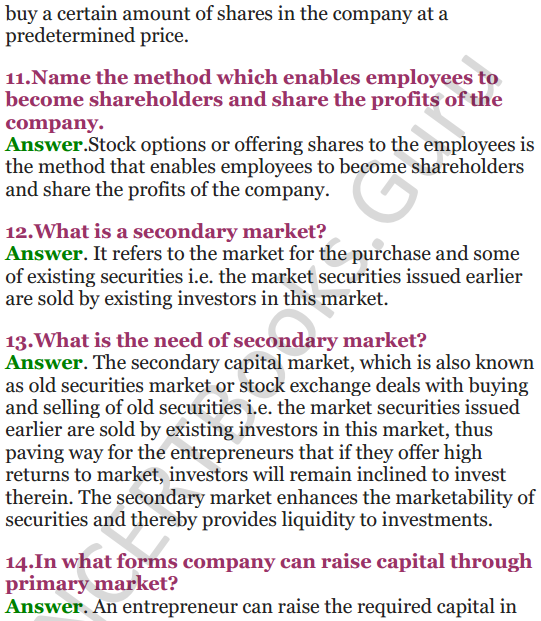 NCERT Solutions for Class 12 Entrepreneurship Chapter 6 Resource Mobilization 11