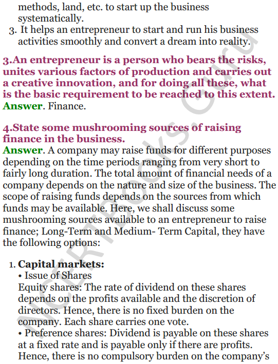 NCERT Solutions for Class 12 Entrepreneurship Chapter 6 Resource Mobilization 13