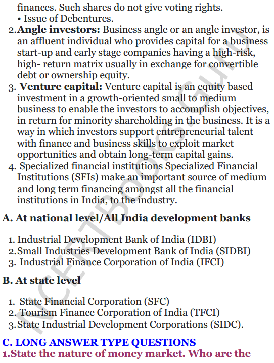 NCERT Solutions for Class 12 Entrepreneurship Chapter 6 Resource Mobilization 14