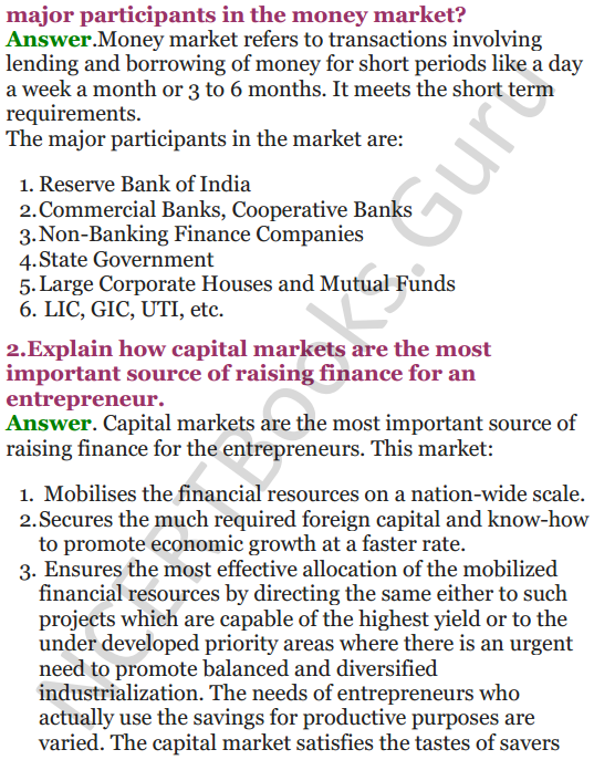 NCERT Solutions for Class 12 Entrepreneurship Chapter 6 Resource Mobilization 15