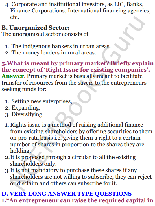 NCERT Solutions for Class 12 Entrepreneurship Chapter 6 Resource Mobilization 17