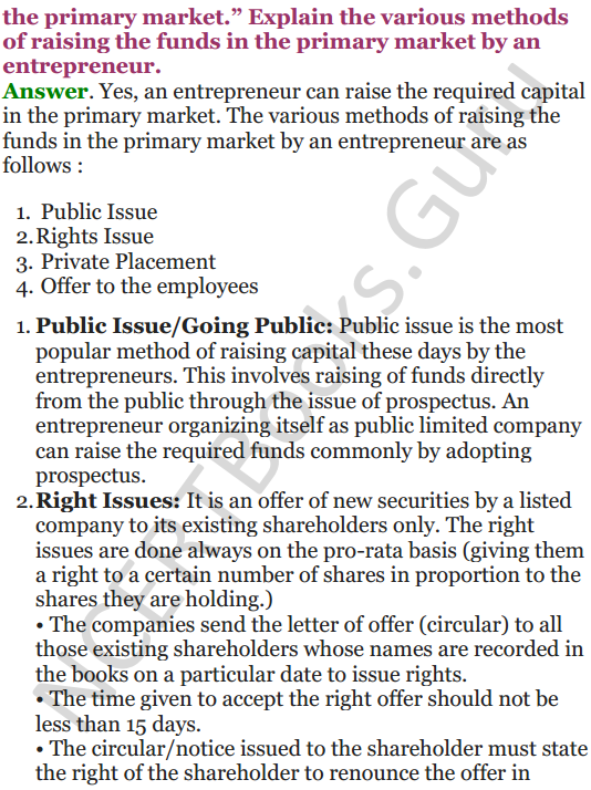 NCERT Solutions for Class 12 Entrepreneurship Chapter 6 Resource Mobilization 18