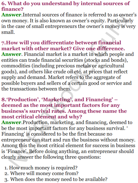 NCERT Solutions for Class 12 Entrepreneurship Chapter 6 Resource Mobilization 2