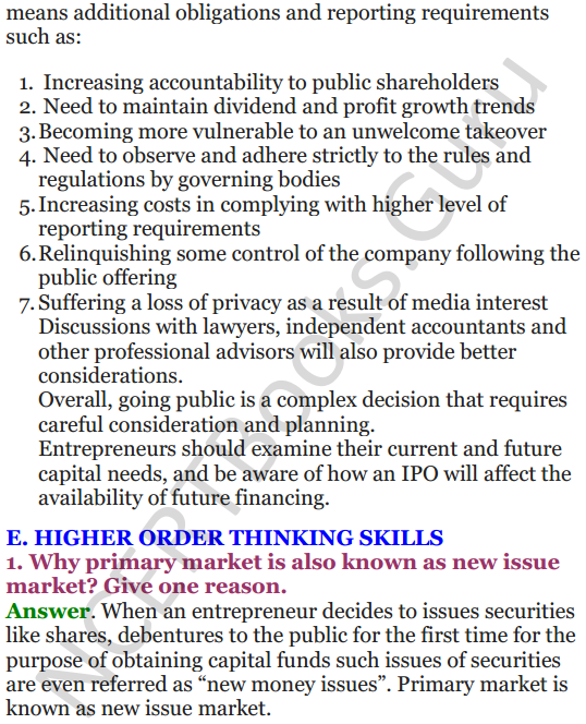 NCERT Solutions for Class 12 Entrepreneurship Chapter 6 Resource Mobilization 23