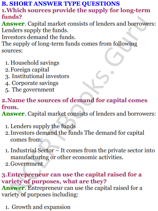 NCERT Solutions for Class 12 Entrepreneurship Chapter 6 Resource Mobilization 3