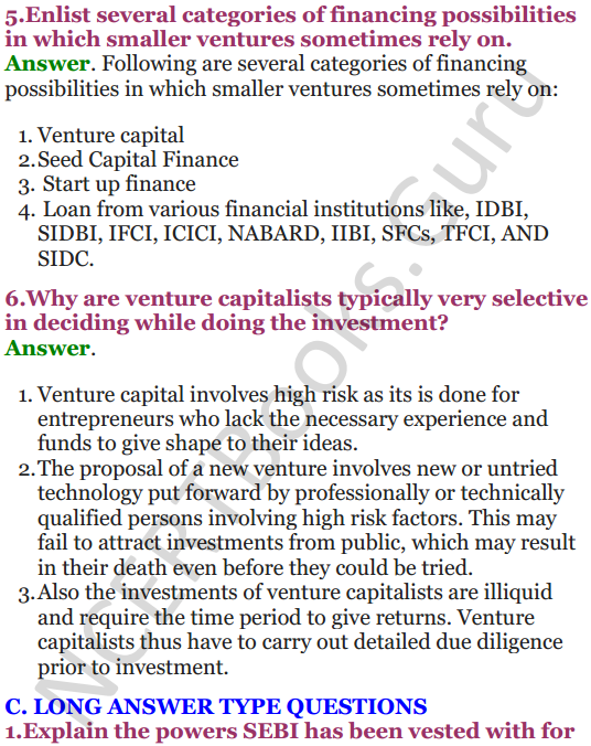 NCERT Solutions for Class 12 Entrepreneurship Chapter 6 Resource Mobilization 35