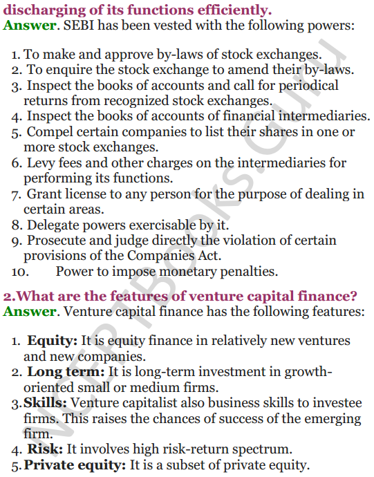 NCERT Solutions for Class 12 Entrepreneurship Chapter 6 Resource Mobilization 36