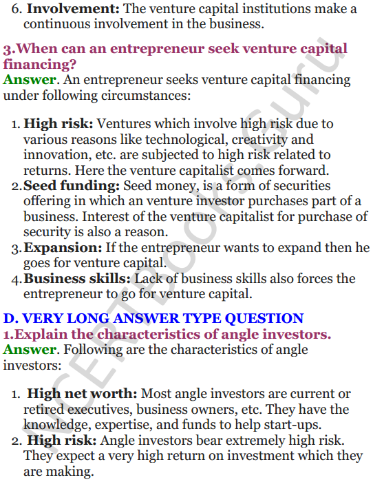 NCERT Solutions for Class 12 Entrepreneurship Chapter 6 Resource Mobilization 37