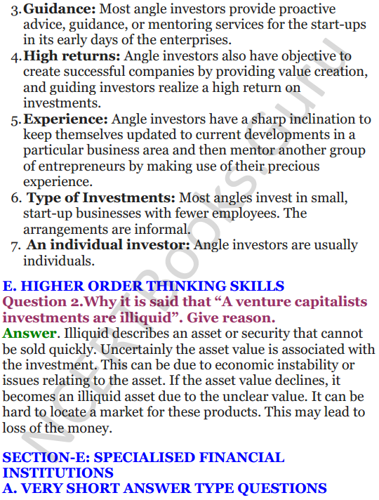NCERT Solutions for Class 12 Entrepreneurship Chapter 6 Resource Mobilization 38