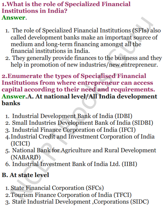 NCERT Solutions for Class 12 Entrepreneurship Chapter 6 Resource Mobilization 39