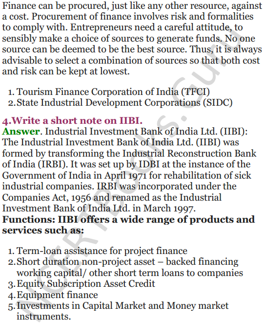 NCERT Solutions for Class 12 Entrepreneurship Chapter 6 Resource Mobilization 47