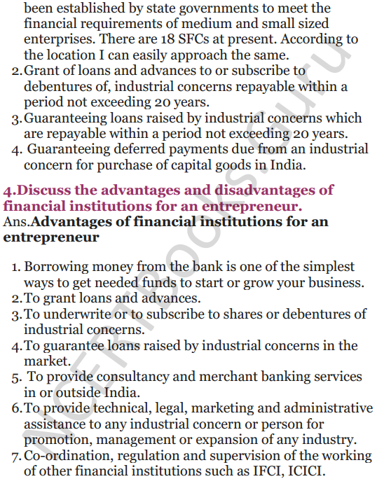 NCERT Solutions for Class 12 Entrepreneurship Chapter 6 Resource Mobilization 55