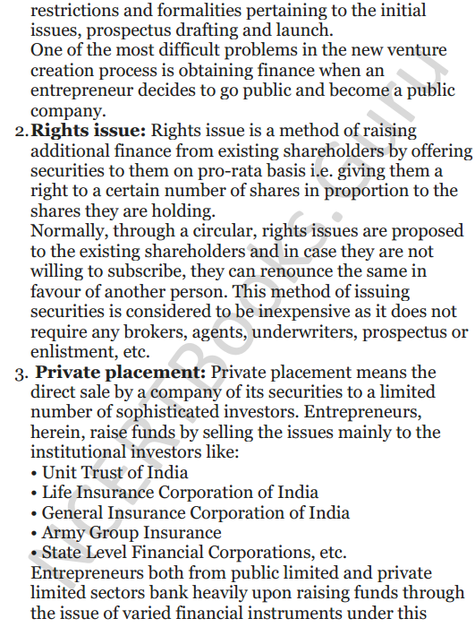 NCERT Solutions for Class 12 Entrepreneurship Chapter 6 Resource Mobilization 6