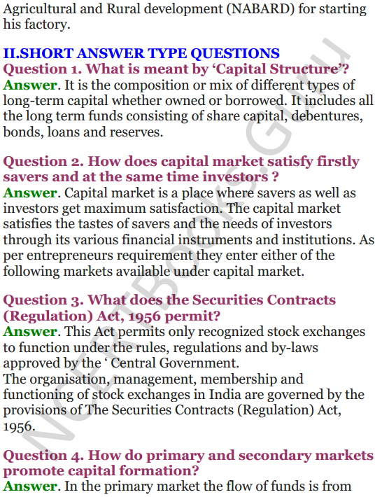 NCERT Solutions for Class 12 Entrepreneurship Chapter 6 Resource Mobilization 69