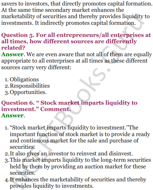 NCERT Solutions for Class 12 Entrepreneurship Chapter 6 Resource Mobilization 70