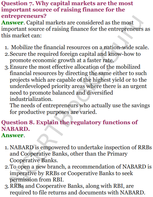 NCERT Solutions for Class 12 Entrepreneurship Chapter 6 Resource Mobilization 71