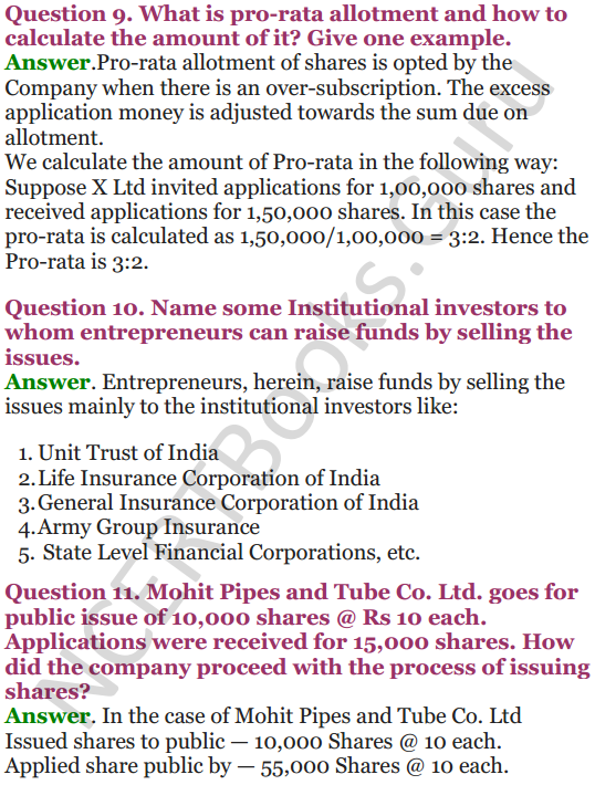 NCERT Solutions for Class 12 Entrepreneurship Chapter 6 Resource Mobilization 72