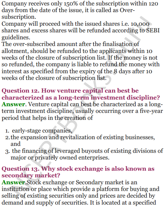 NCERT Solutions for Class 12 Entrepreneurship Chapter 6 Resource Mobilization 73