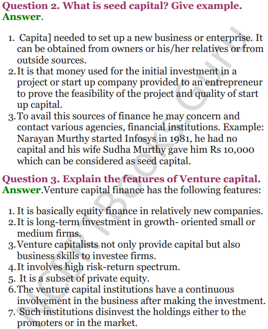 NCERT Solutions for Class 12 Entrepreneurship Chapter 6 Resource Mobilization 76