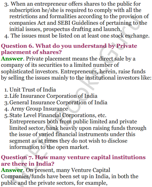 NCERT Solutions for Class 12 Entrepreneurship Chapter 6 Resource Mobilization 78
