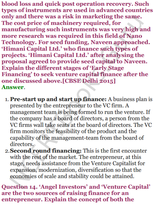 NCERT Solutions for Class 12 Entrepreneurship Chapter 6 Resource Mobilization 83