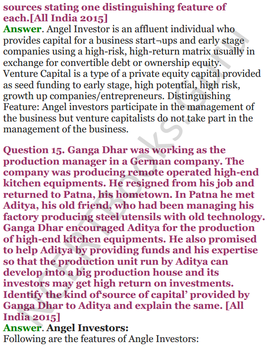 NCERT Solutions for Class 12 Entrepreneurship Chapter 6 Resource Mobilization 84