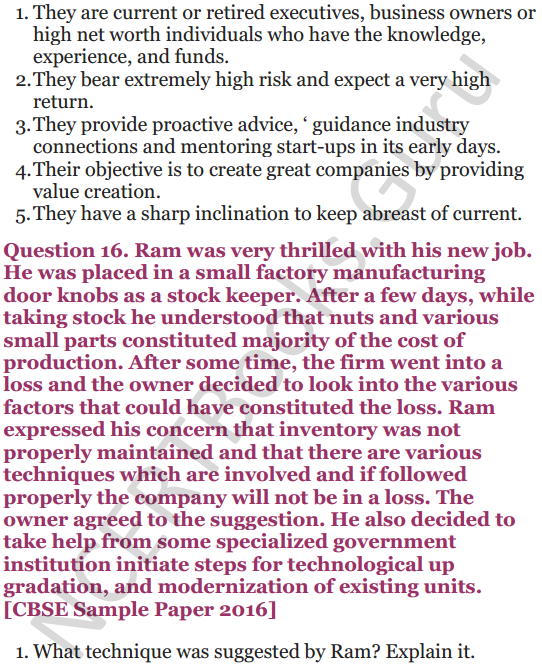 NCERT Solutions for Class 12 Entrepreneurship Chapter 6 Resource Mobilization 85