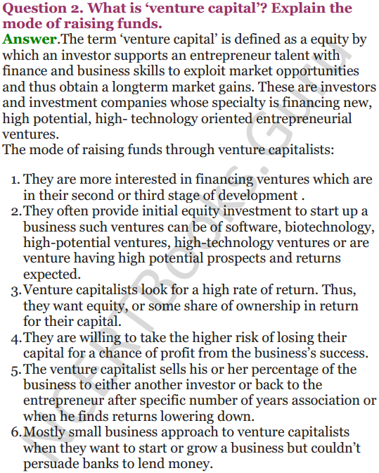 NCERT Solutions for Class 12 Entrepreneurship Chapter 6 Resource Mobilization 89