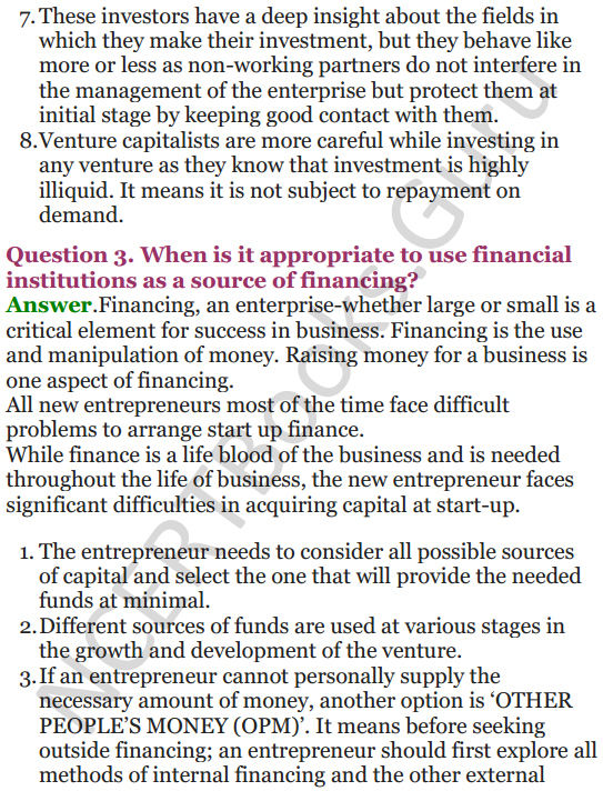 NCERT Solutions for Class 12 Entrepreneurship Chapter 6 Resource Mobilization 90