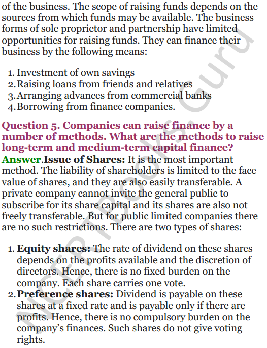 NCERT Solutions for Class 12 Entrepreneurship Chapter 6 Resource Mobilization 92