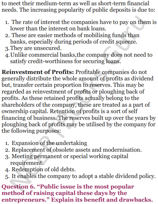 NCERT Solutions for Class 12 Entrepreneurship Chapter 6 Resource Mobilization 94