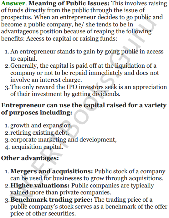 NCERT Solutions for Class 12 Entrepreneurship Chapter 6 Resource Mobilization 95