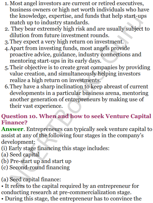 NCERT Solutions for Class 12 Entrepreneurship Chapter 6 Resource Mobilization 99