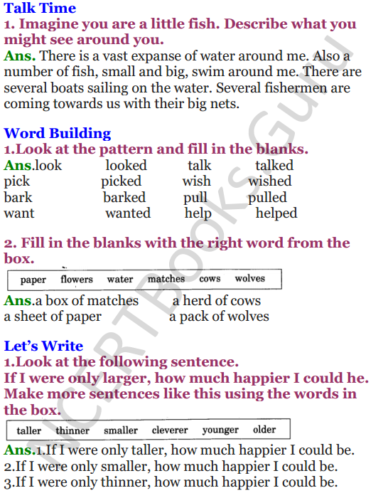 NCERT Solutions for Class 3 English Unit-4 Little Fish Story 2