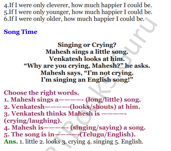 NCERT Solutions for Class 3 English Unit-4 Little Fish Story 3