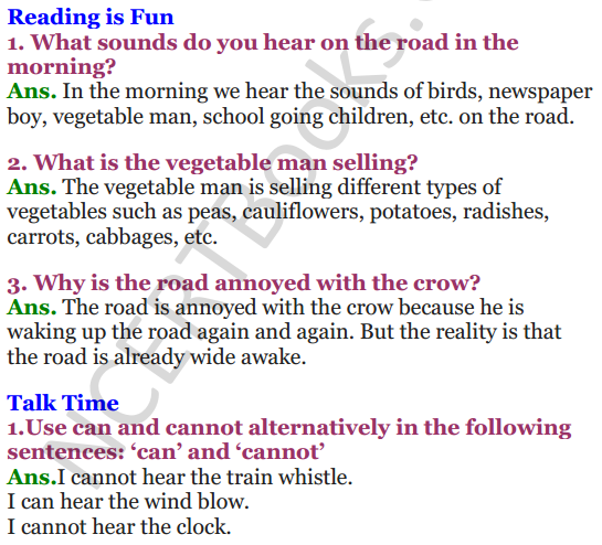 NCERT Solutions for Class 3 English Unit-6 The story of the road 1