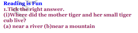 NCERT Solutions for Class 3 English Unit-7 Little tiger, Big tiger 1